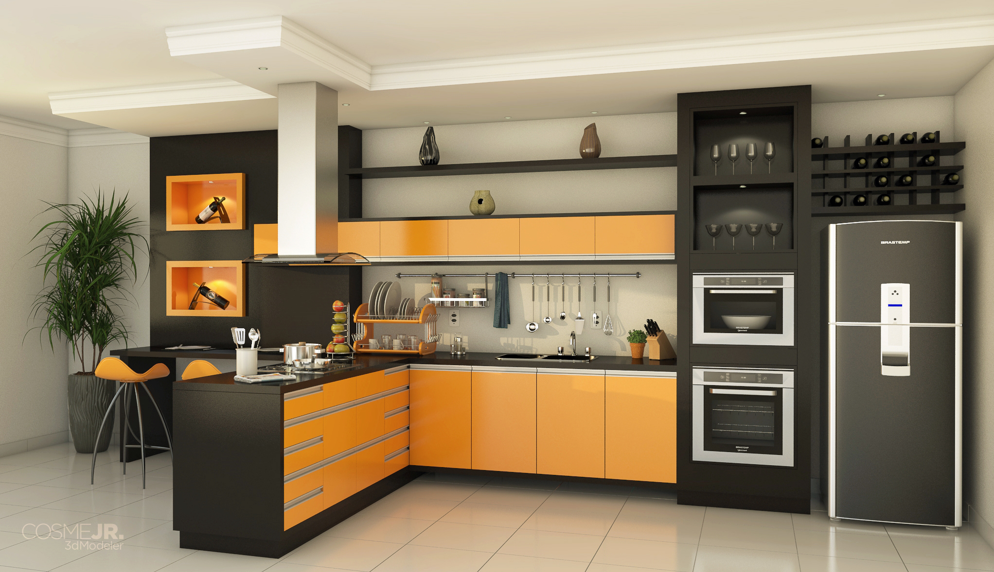 cozinha planejada sketchup v rios desenhos sobre id ias de design de cozinha. Black Bedroom Furniture Sets. Home Design Ideas