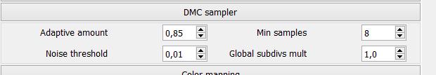 DMC sampler