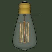 Lampada Vintage 09 - SketchUp Brasil_2d
