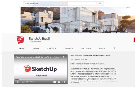 YouTube | Novo Canal Oficial do SketchUp em Português