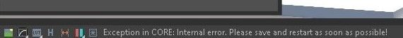 Exception in CORE: Internal error. / Erro no V-Ray para Sketchup