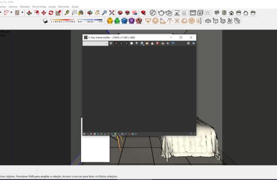 Janela do render sketchup abre mas nao aparece a imagem